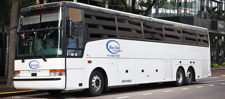 Motor coach transportation services in Tampa
